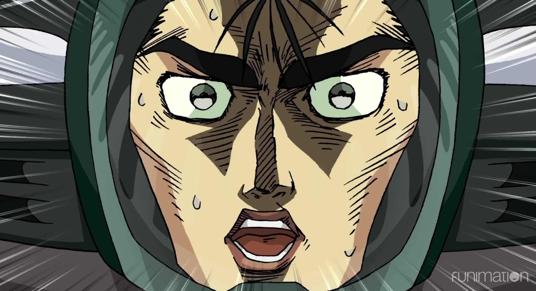 anime, cartoon, comedy, funimation, funny, pop team epic, pop team epic episode 5, GTR goes boom GIFs