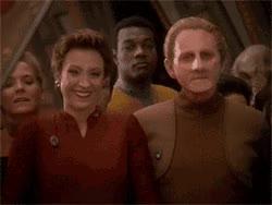 Watch Bajoran Clap GIF by Star Trek gifs (@star-trek-gifs) on Gfycat. Discover more Bajoran, Clap, Clapping, DS9, Deep Space Nine, Kira, Kira Nerys, Nana Visitor, Odo, Reaction, René Auberjonois, Star Trek, Star Trek Deep Space Nine GIFs on Gfycat