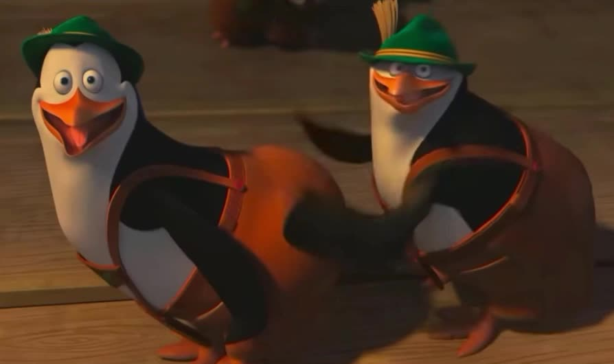 ass, best, bff, dance, dancing, epic, friend, funny, hit, lol, madagascar, of, penguins, slap, smile, take, this, twerk, Penguins of Madagascar Slap Dance GIFs