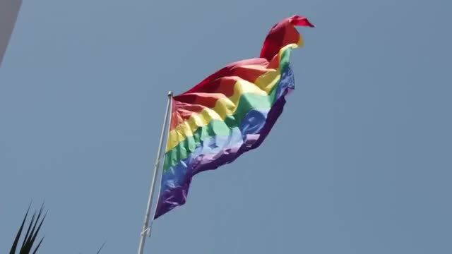 Watch this flag GIF by leahstark on Gfycat. Discover more flag, flag day, flags, pride, rainbow, rainbow-flag-waving-at-castro-market-san-francisco GIFs on Gfycat