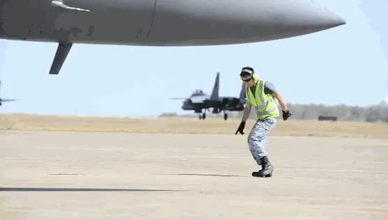 Watch and share Singapore Air Force Creative Marshalling. (reddit) GIFs on Gfycat