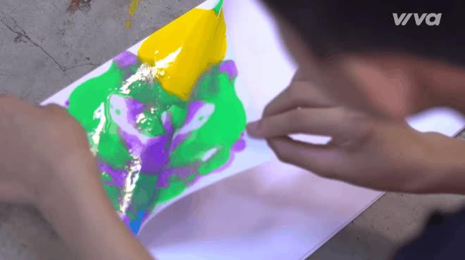 Thanh Ngân, Tâm Hào, Như Ngọc tinh nghịch vẽ tranh cùng Hương Tràm  Tiên Cookie