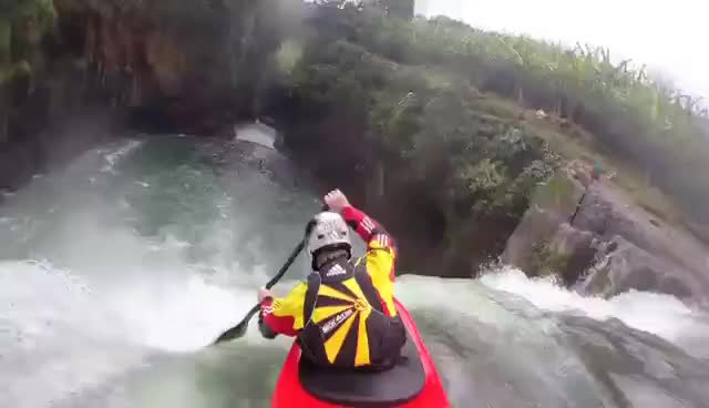 kayak, Mexican Waterfalls | Jackson Kayak | ytgifs GIFs