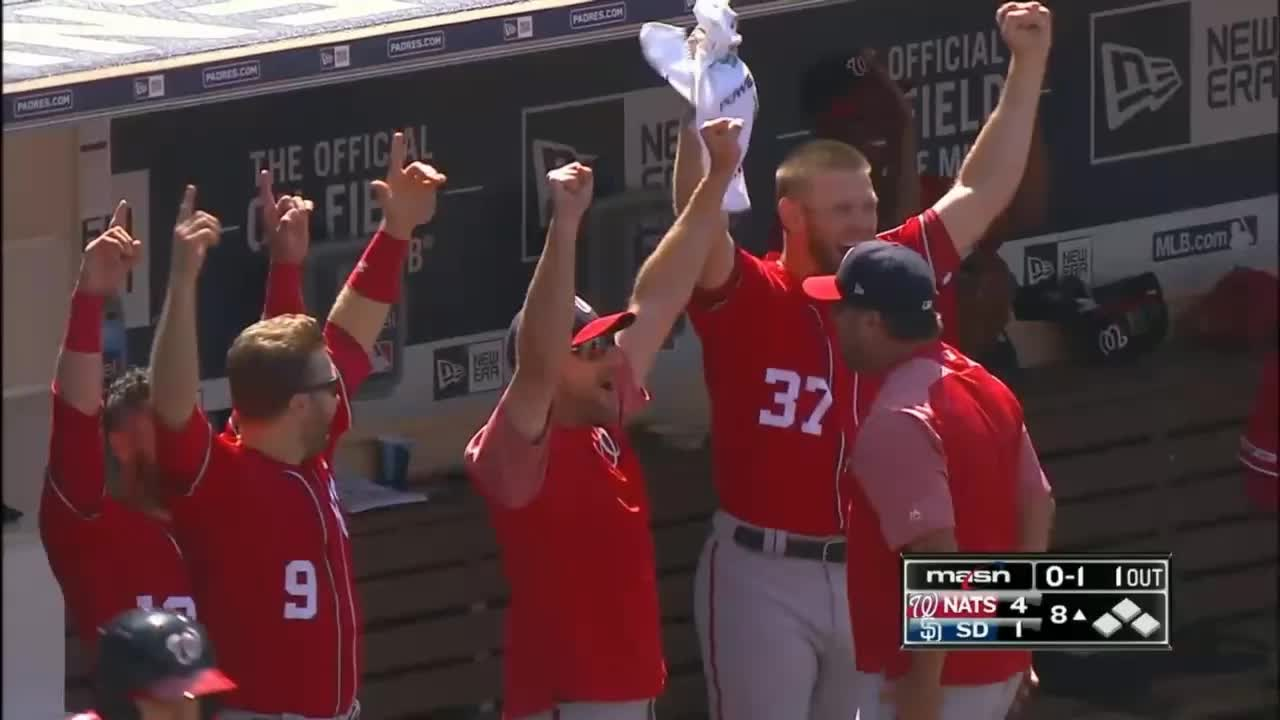 nationals, washington nationals, excited dugout GIFs