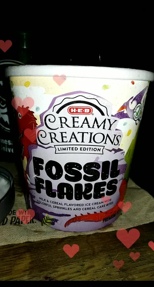 Watch and share Fossil Flakes Cereal Ice Cream GIFs by FyreBelle on Gfycat