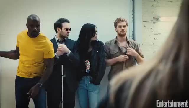 defenders, The Defenders: First Look At Marvel Mashup | Cover Shoot | Entertainment Weekly GIFs