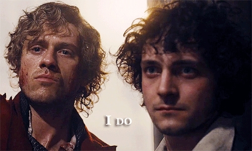 enjolras, enjolras x grantaire, exr, grantaire, les miserables, lesmisedit, my gifs, Pretend I said something witty GIFs
