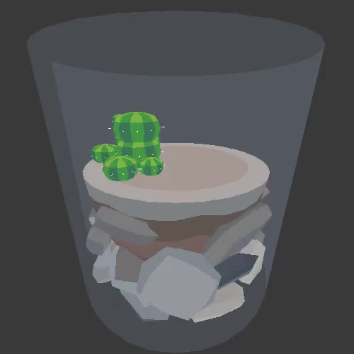 Watch patreon.com/vine GIF on Gfycat. Discover more 3d, animated, cactus, lowpoly, terrarium GIFs on Gfycat
