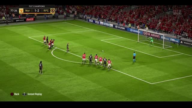Watch Good penalty  GIF by Xbox DVR (@xboxdvr) on Gfycat. Discover more FIFA18, rebelrobot123, xbox, xbox dvr, xbox one GIFs on Gfycat