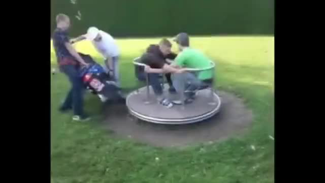 Watch and share WCGW Spinning A Roundabout With A Ped GIFs on Gfycat