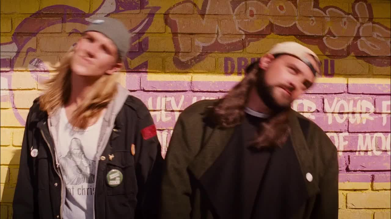 celebs, clerks, clerks 2, dancing, jason mewes, jay, kevin smith, silent bob, Clerks II - Jay & Silent Bob Dancing GIFs
