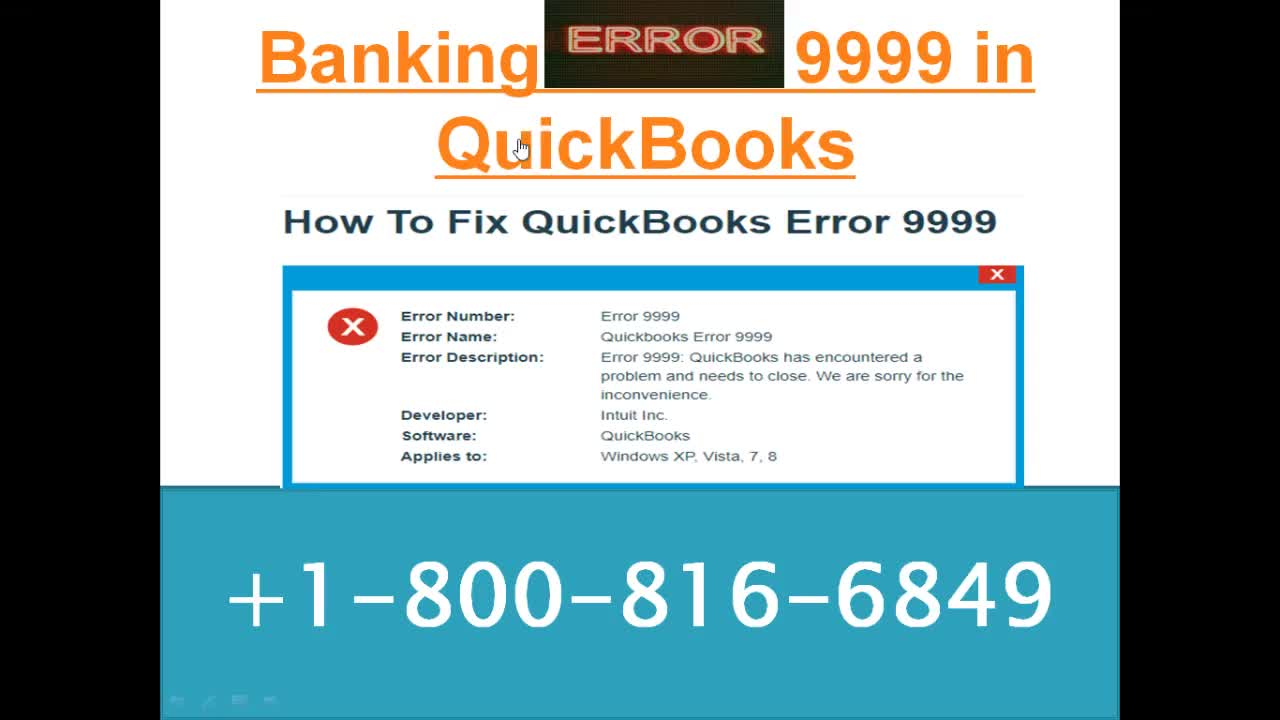 How To Fix QuickBooks Error 9999 GIF by (@bigxperts)   Find, Make
