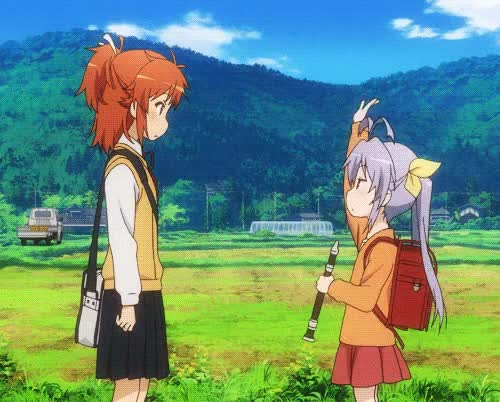 Watch and share Non Non Biyori - Nyanpasu! Greeting GIFs by rothul on Gfycat