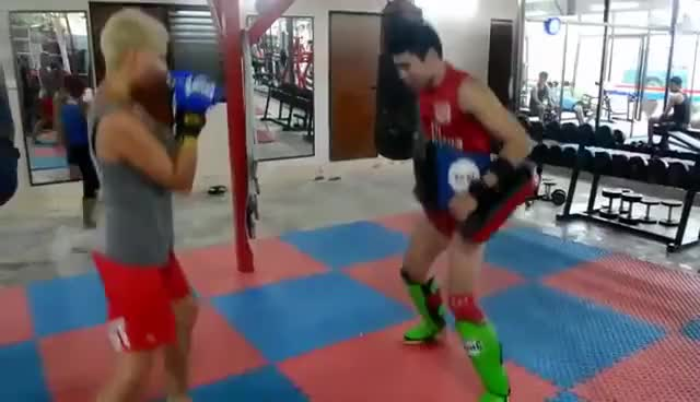 Watch Beginners Group Muay Thai Training GIF on Gfycat. Discover more related GIFs on Gfycat