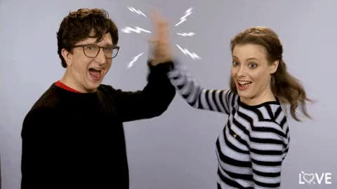 Watch and share Gillian Jacobs GIFs and Paul Rust GIFs on Gfycat
