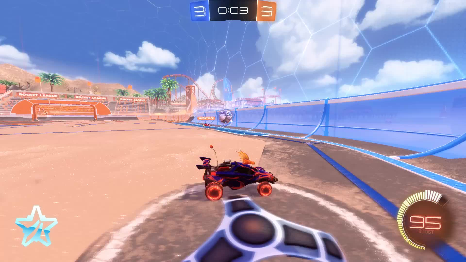Gif Your Game, GifYourGame, Goal, ItIsK3vin, Rocket League, RocketLeague, Demo and Flick 0 Second Goal GIFs