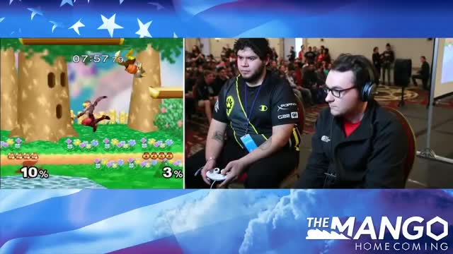 Mango Homecoming - DIG   Lucky (Fox) VS PS   Captain Faceroll (Sheik) - SSBM - Top 8- Losers Eighths