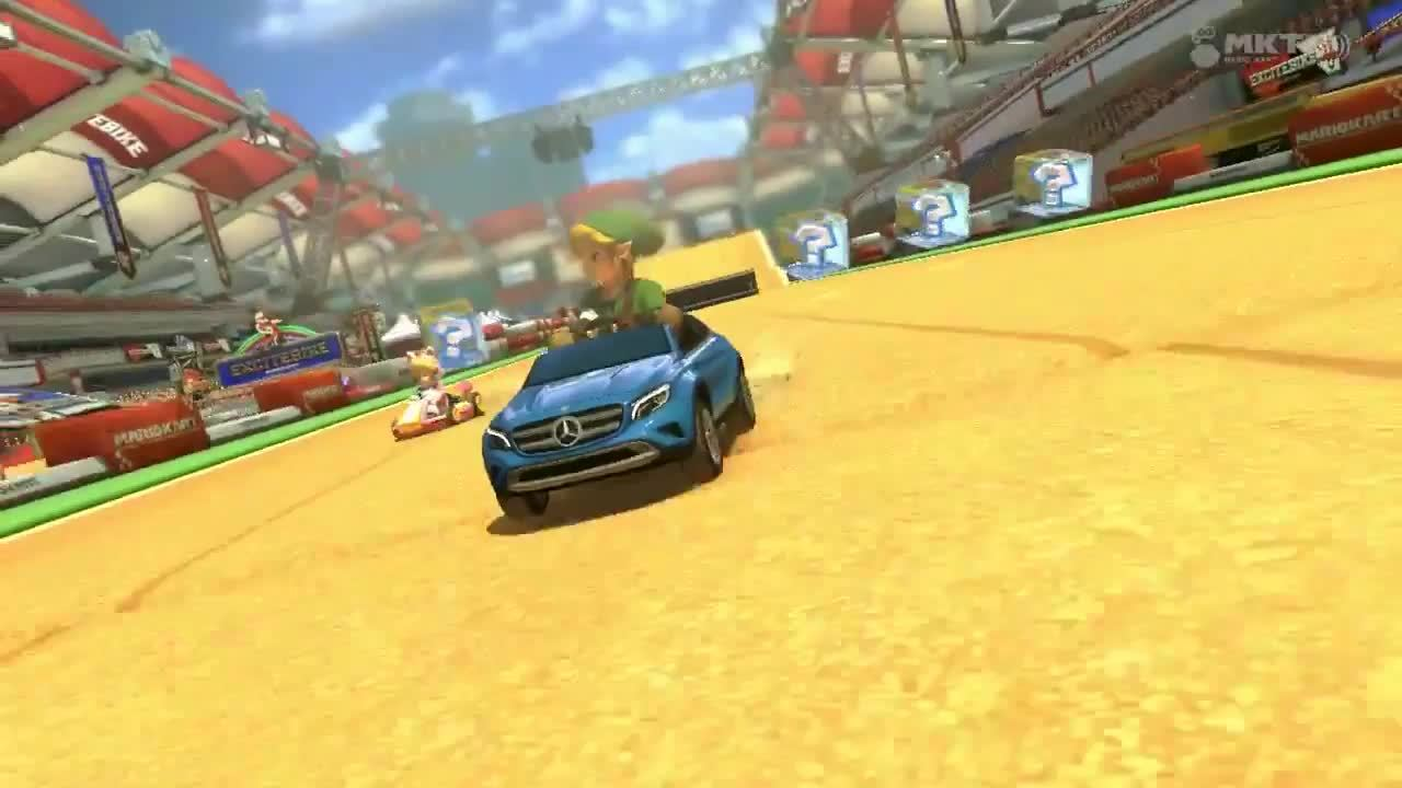 mariokart, my best boomerang ever comes from link in the last turn of excitebike (reddit) GIFs