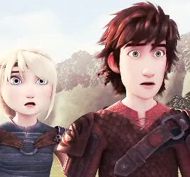 Watch hiccup + astrid moments in episode 7  GIF on Gfycat. Discover more astrid, dragons race to the edge, hiccup, hicstrid, how to train your dragon, my gif GIFs on Gfycat