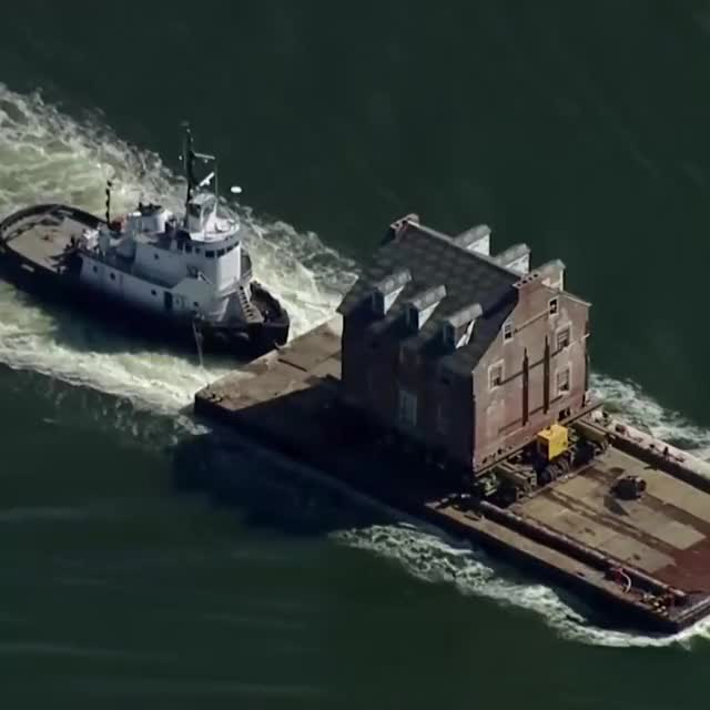 Watch and share 250-Year-Old House Moved 50 Miles By Boat GIFs by GIFs For Everything on Gfycat
