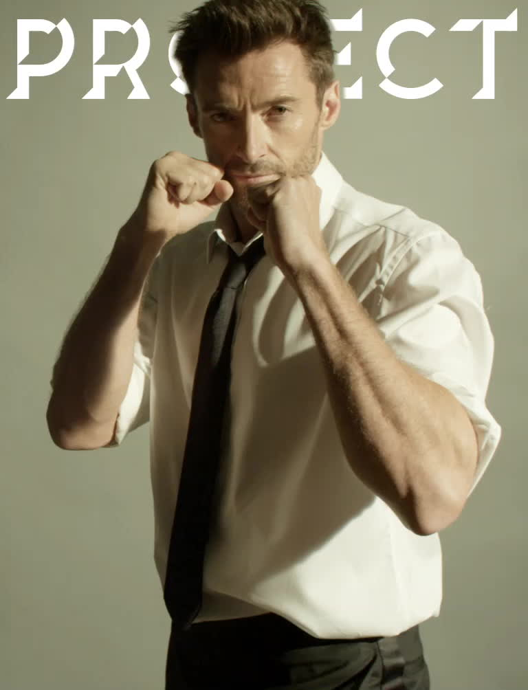 hugh jackman, punch, Hugh Jackman for Project Magazine GIFs
