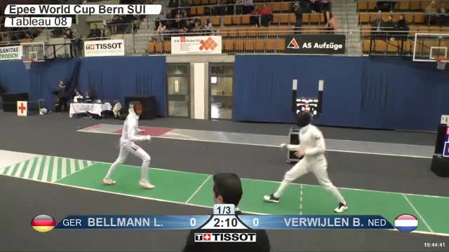 Watch BELLMANN Lr 1 GIF by Scott Dubinsky (@fencingdatabase) on Gfycat. Discover more gender:, leftname: BELLMANN Lr, leftscore: 1, rightname: VERWIJLEN B, rightscore: 0, time: 00022546, touch: left, tournament:, weapon: epee GIFs on Gfycat
