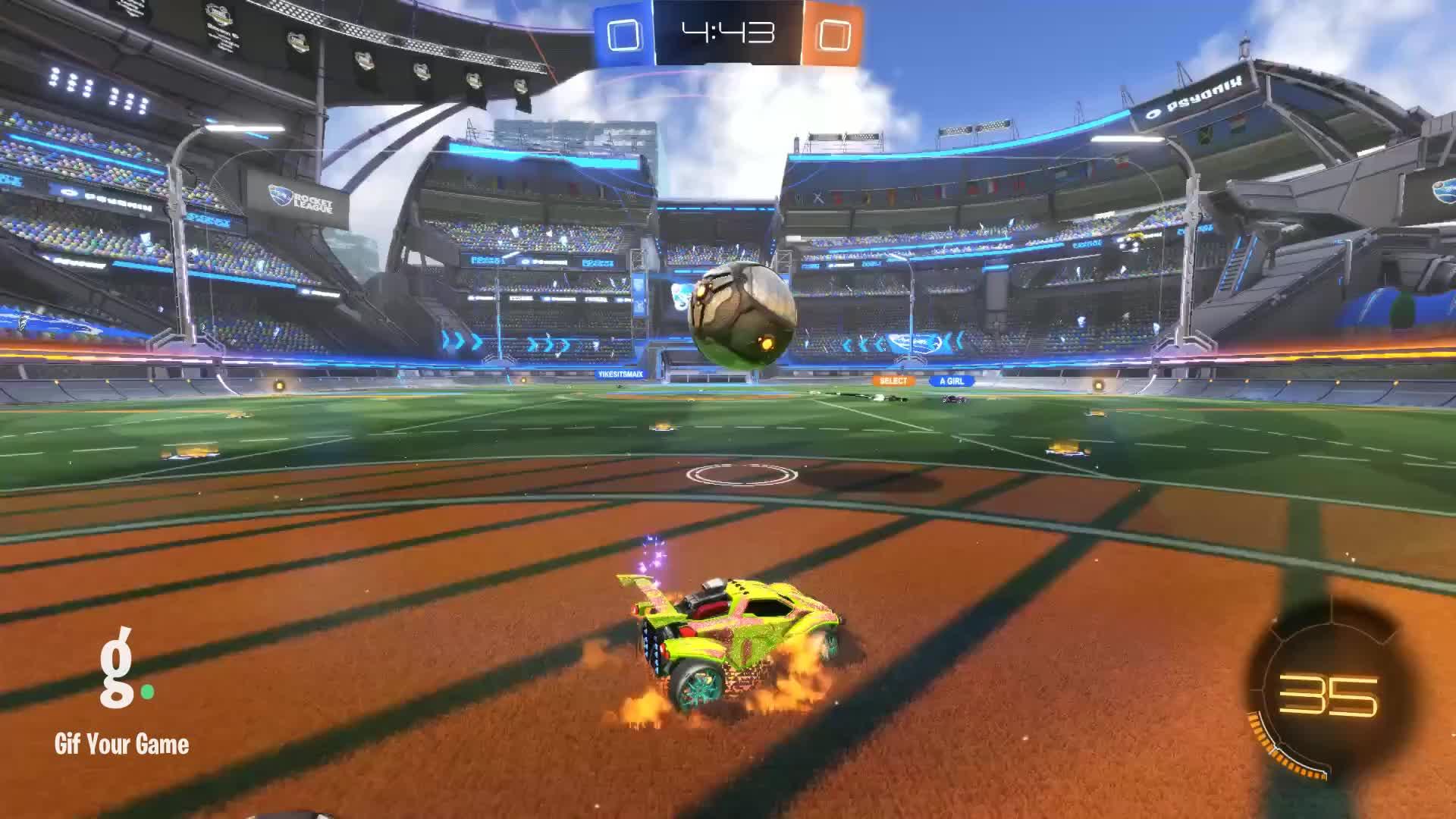 Gif Your Game, GifYourGame, Goal, Millsi, Rocket League, RocketLeague, Remixed Goal 1: Millsi GIFs