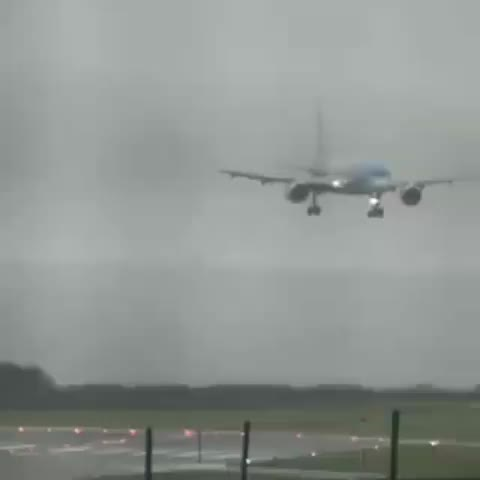 Watch and share Airplane Landing During High Crosswinds GIFs by Boojibs on Gfycat