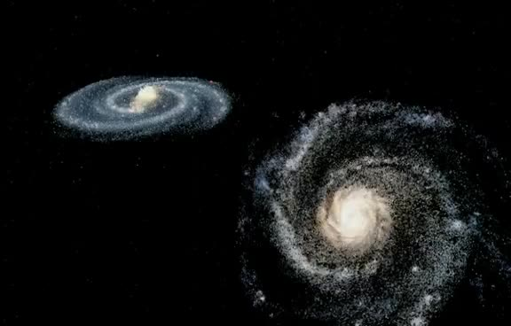 Watch and share Andromeda/Milky Way Collision (simulation) GIFs on Gfycat