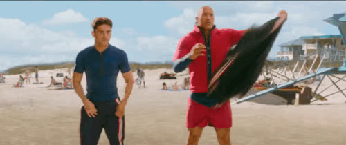 baywatch, dwayne johnson, zac efron, Zac Efron, Baywatch GIFs