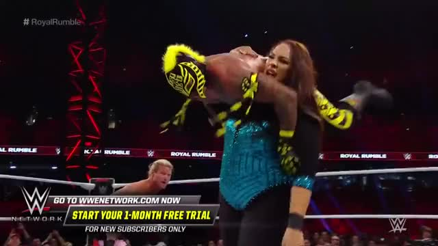 Watch Randy Orton RKOs Nia Jax after she dominates the Men's Royal Rumble Match: Royal Rumble 2019 GIF on Gfycat. Discover more 00, 00-04, 2019-01-27t19, ATH, Dt, Sp, Superstars, athlete_in_match, ev, high, scp, st, ty, wrestle, wrestler, wrestling, wwe, wwe-niajx, wwe-rndyo, wwe-rumble GIFs on Gfycat