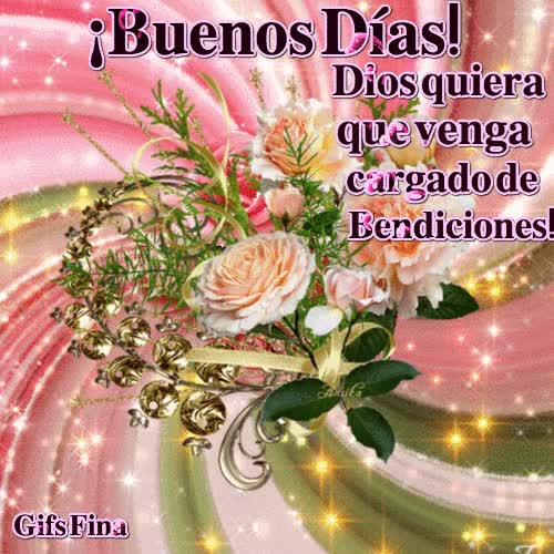 Watch ¡Buenos Días! Dios quiera que venga cargado de Bendiciones. GIF on Gfycat. Discover more related GIFs on Gfycat