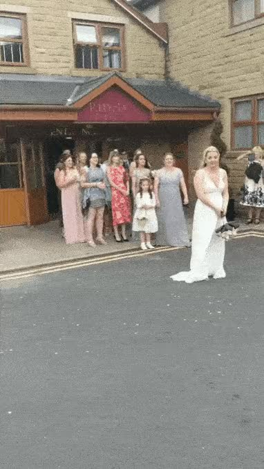 Watch and share Wedding Bouquet Fail GIFs on Gfycat