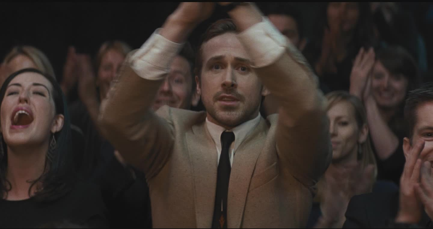 applause, cheering, clap, la la land, lalaland, lionsgate, movies, yes, Seb enthusiastically clapping - Ryan Gosling GIFs