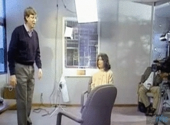 showerthoughts, Bill Gates jumping over a chair. GIFs