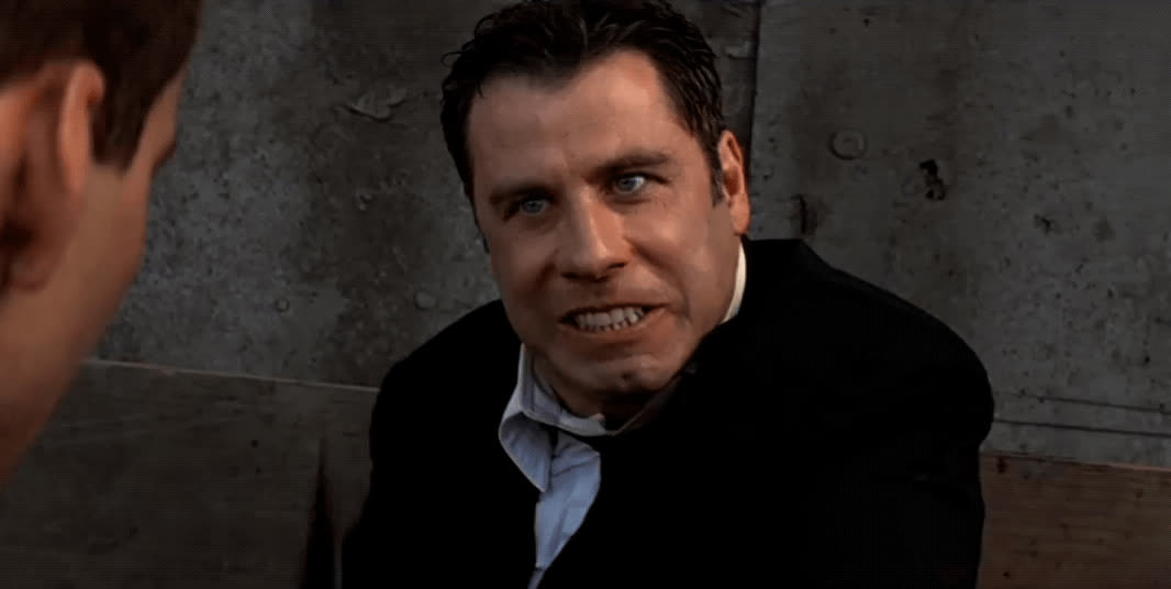 crazy, face off, insane, john travolta, psycho, John Travolta - Face/Off GIFs