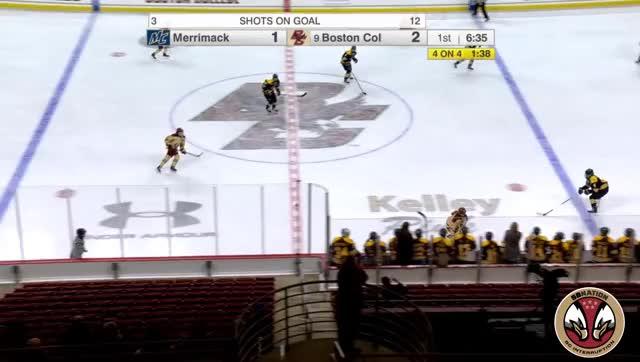 Watch Demers Save 1 (W) Merrimack 12/7/18 GIF by @salzano14 on Gfycat. Discover more Colorado Avalanche, hockey GIFs on Gfycat