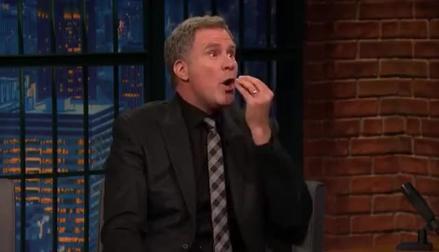 Watch and share Late Night With Seth Meyers GIFs and Will Ferrell GIFs on Gfycat