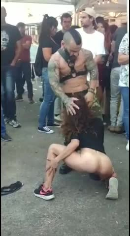 drugged up midget Zangief gets his limp dick sucked at a music festival