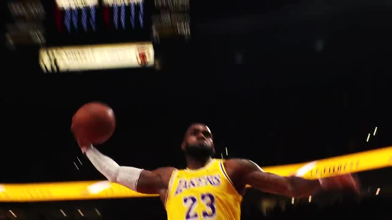 amazing, basketball, game, games, highlights, hoops, lebron james, nba, plays, sports, LeBron James' Lakers Mixtape! GIFs
