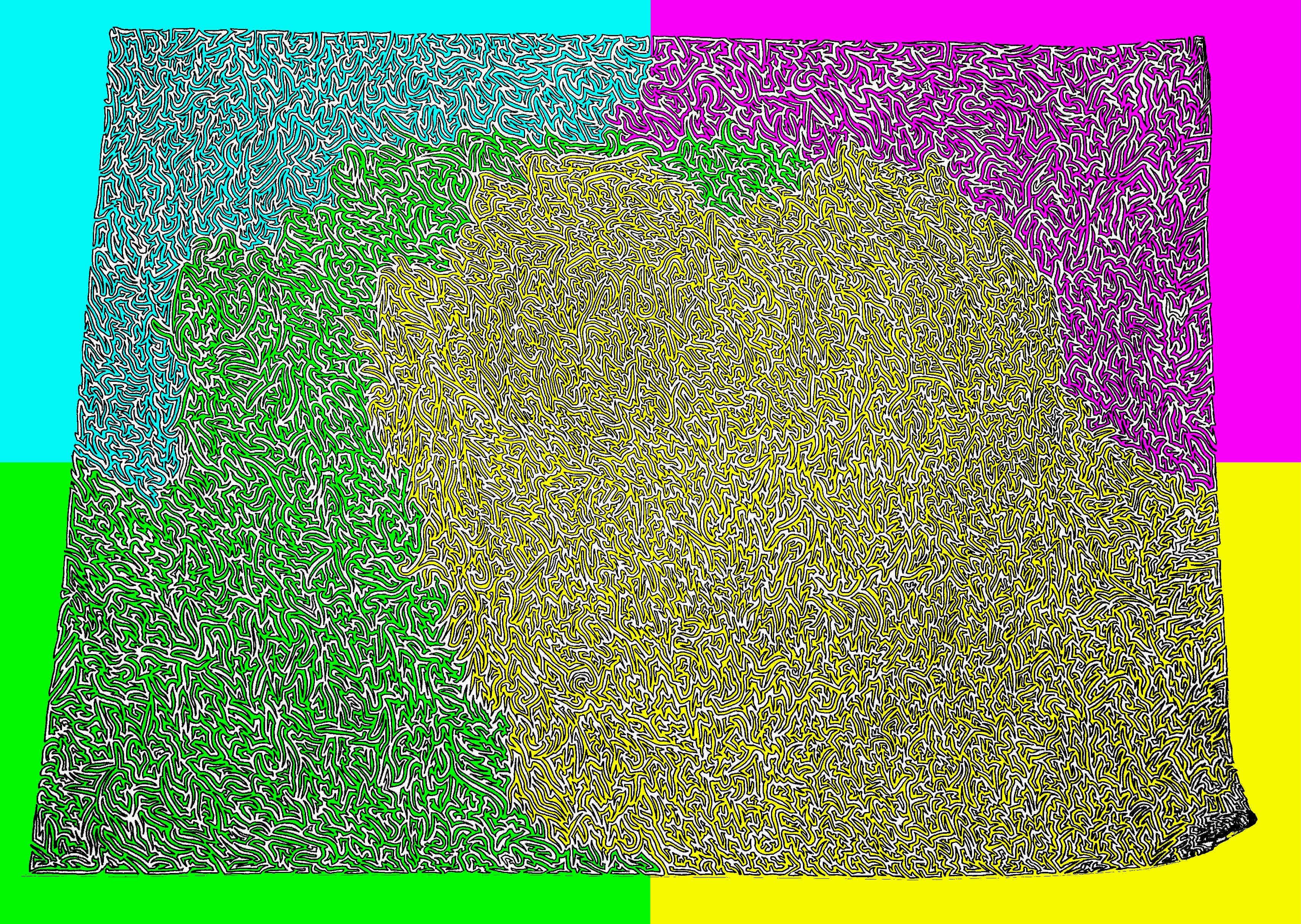 eyebleach, Maze Flood Fill GIFs