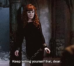 Watch and share Rowena Keep Telling Yourself That GIFs on Gfycat