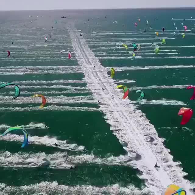 Kiteandtravel, beachlife, kiteboard, kiteboarding, kitespot, kitesurf, kitesurfer, kitesurfers, kitesurfing, oceanlife, How many kites!? . GIFs