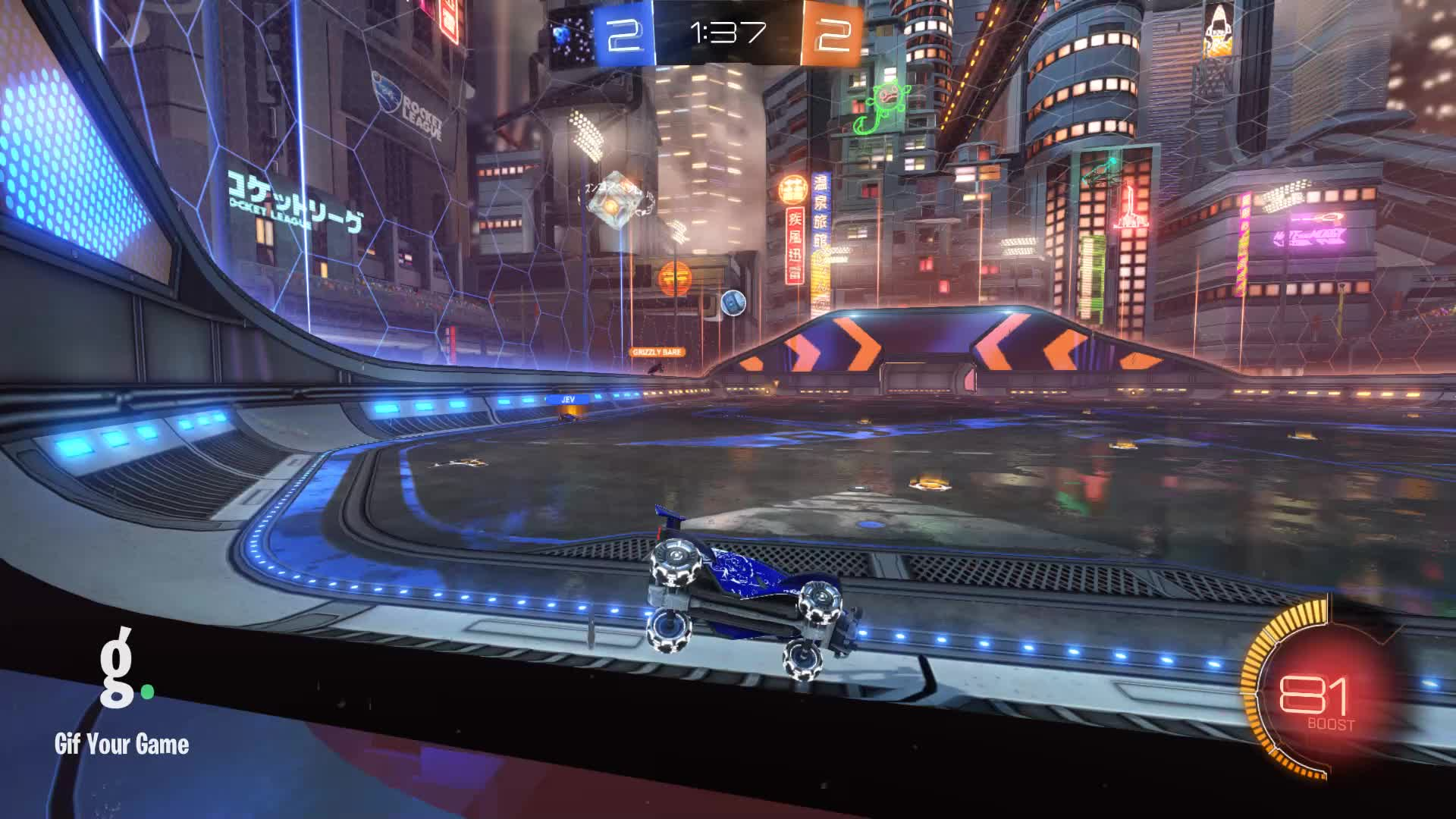 Gif Your Game, GifYourGame, Goal, Rocket League, RocketLeague, Styrrell, Goal 5: Grizzly Bare GIFs