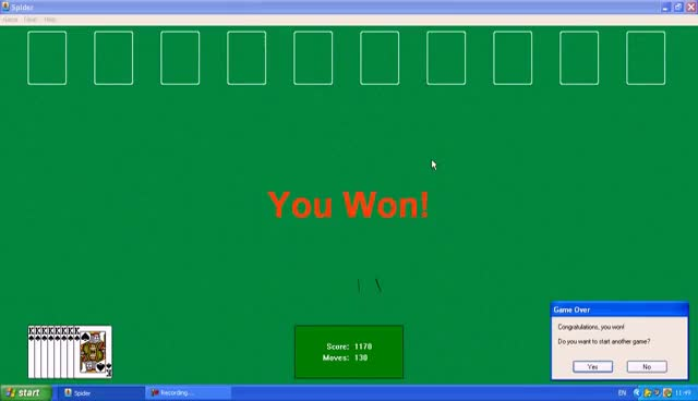 Watch and share Playing Spider Solitaire In Microsoft Windows XP GIFs on Gfycat