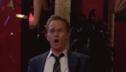 Barney Stinson, celebrate, confetti, happy, how i met your mother, neil patrick harris, surprise, wow, yay, Neil Patrick Harris Celebrate GIFs