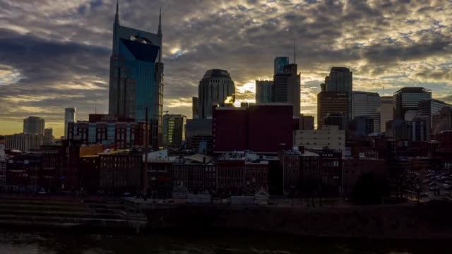Watch and share Nashville Drone Skyline Sunset GIFs on Gfycat