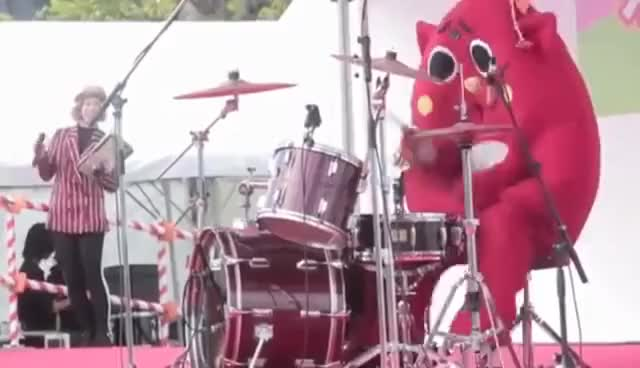 Watch mascot drummer GIF on Gfycat. Discover more related GIFs on Gfycat