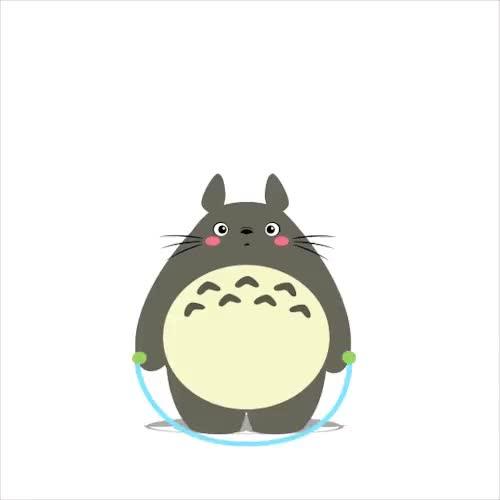 Watch and share Totoro Realizando Una Caminata. GIFs on Gfycat