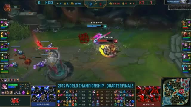 Watch and share [Worlds 2015] KOO Smeb #3 KT GIFs by ITCC on Gfycat